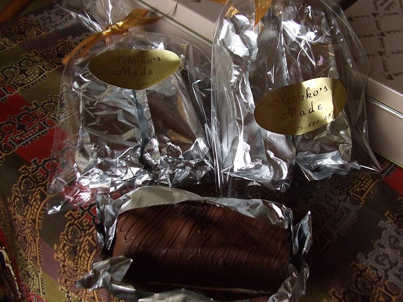 レーズン、ピスタチオも入ったチョコバー
